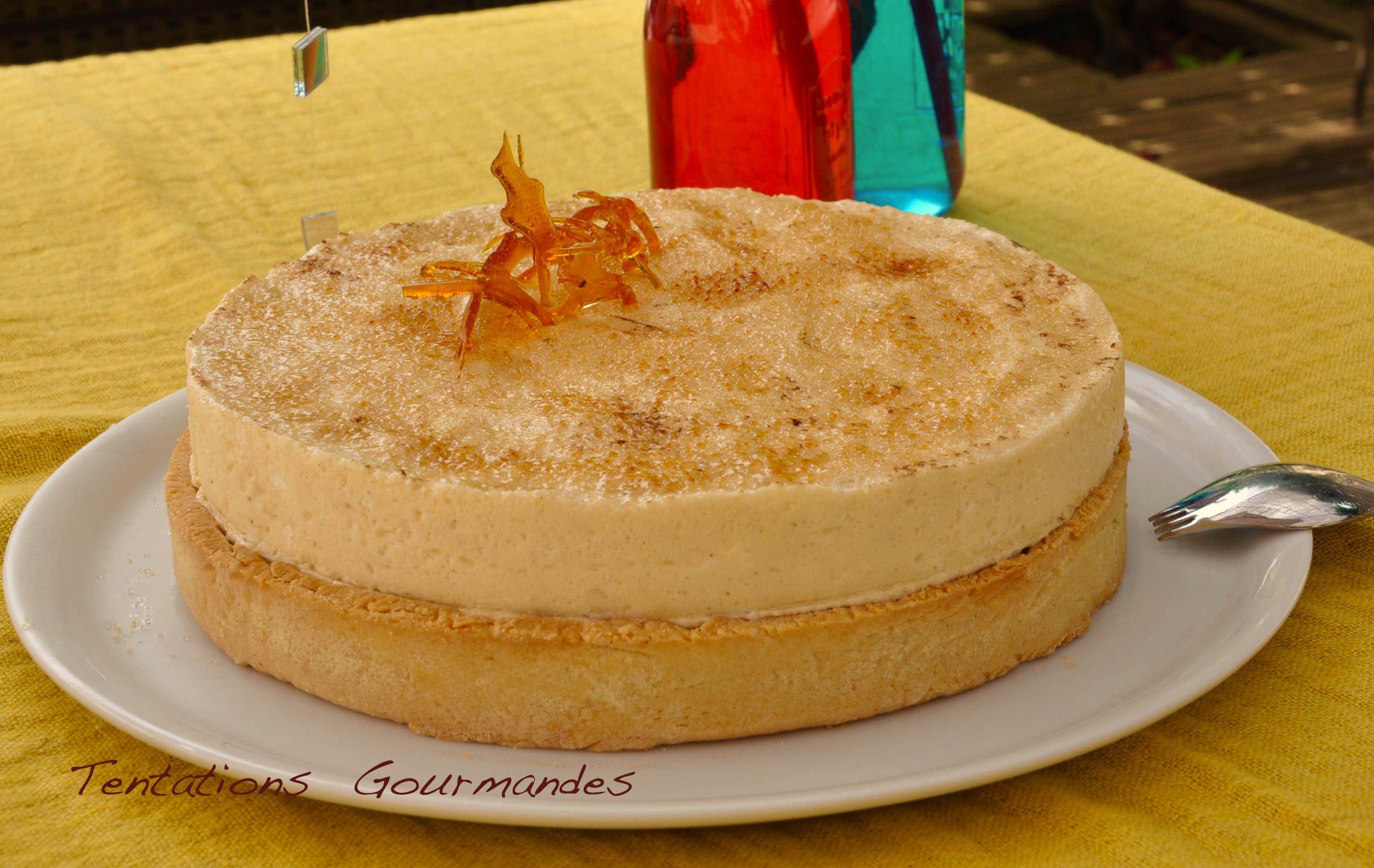 Gâteau aux pommes crème Chiboust