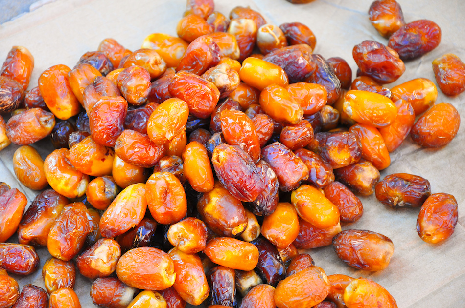 Le marché de Tata dattes fraîches