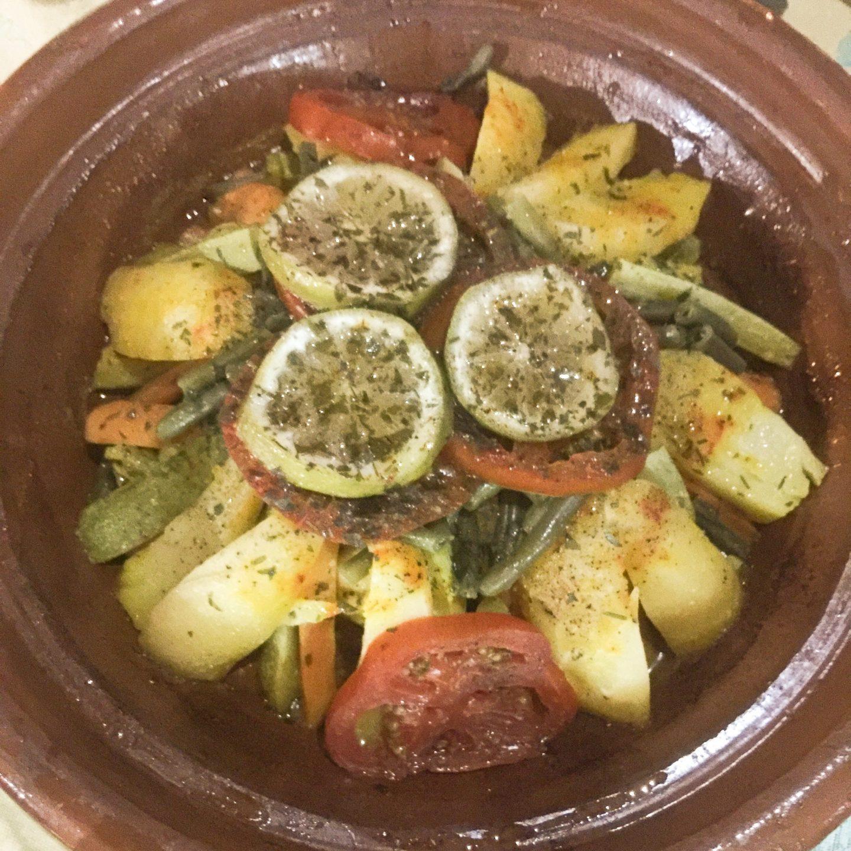 Tajine aux légumes auberge du safran à Taliouline